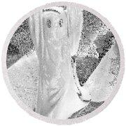 Ghost #3 Round Beach Towel
