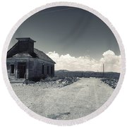 Ghost Church Round Beach Towel