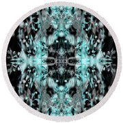 Round Beach Towel featuring the digital art Ghost Flake Inverted by Reed Novotny