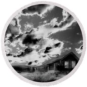 Round Beach Towel featuring the photograph Ghost House by Jim and Emily Bush