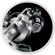 Round Beach Towel featuring the photograph Ghost In The Machine by Wayne Sherriff