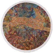 Ghost Of A Rabbit Round Beach Towel