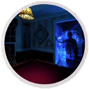 Ghost Of The Parlor Round Beach Towel