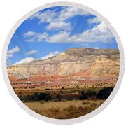 Round Beach Towel featuring the photograph Ghost Ranch New Mexico by Kurt Van Wagner