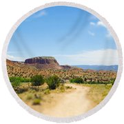 Ghost Ranch  Round Beach Towel