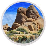 Round Beach Towel featuring the photograph Ghost Rock - Joshua Tree National Park by Glenn McCarthy Art and Photography