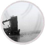 Ghost Ship Round Beach Towel by Joseph Skompski