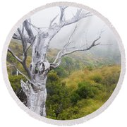 Round Beach Towel featuring the photograph Ghost by Werner Padarin