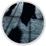Ghosts Of Christmas Past Round Beach Towel