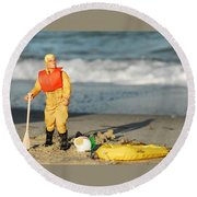 Gi Joe Marooned Round Beach Towel