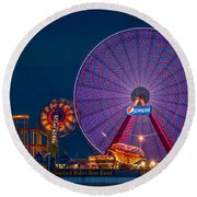 Giant Ferris Wheel Round Beach Towel