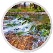Giant Springs 2 Round Beach Towel
