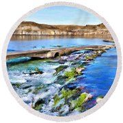 Giant Springs 3 Round Beach Towel