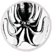 Octopus Round Beach Towel