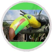Giant Toucan Round Beach Towel by Randall Weidner
