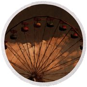 Round Beach Towel featuring the photograph Giant Wheel by David Dehner