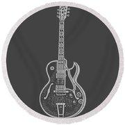 Gibson Es-175 Electric Guitar Tee Round Beach Towel by Edward Fielding