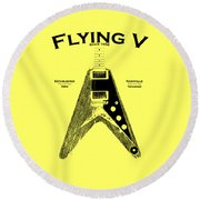 Gibson Flying V Round Beach Towel