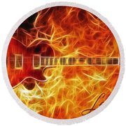 Gibson Les Paul Round Beach Towel