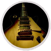 Guitar Triple Pickups Spotlight Series Round Beach Towel