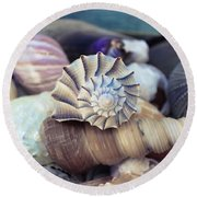 Gifts From The Sea Round Beach Towel