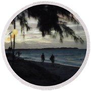 Gili Nights Round Beach Towel