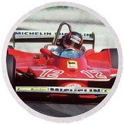 Gilles Villeneuve, Ferrari Legend - 01 Round Beach Towel