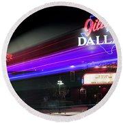 Gilley's Dallas Night Club Round Beach Towel