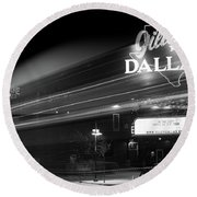 Gilley's Motion Bw Round Beach Towel