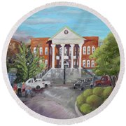 Gilmer County Courthouse - Ellijay, Ga Round Beach Towel by Jan Dappen