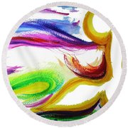Gimel - Breathe Round Beach Towel