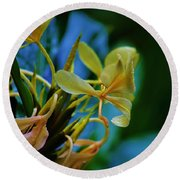 Round Beach Towel featuring the photograph Ginger Blossom by Craig Wood