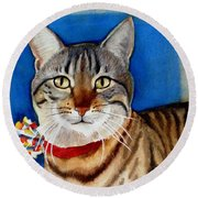 Ginger Round Beach Towel by Marilyn Jacobson