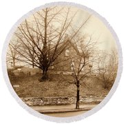 Ginkgo Tree, 1925 Round Beach Towel