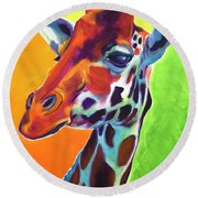 Giraffe - Summer Fling Round Beach Towel
