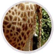 Giraffe Tails Round Beach Towel