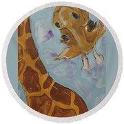 Giraffe Tall Round Beach Towel