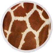 Giraffe Textures Round Beach Towel
