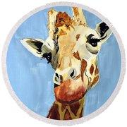 Girard Giraffe Round Beach Towel