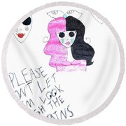 Round Beach Towel featuring the photograph Melanie Martinez by Lucy Frost