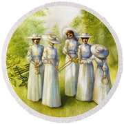 Girls In The Band Round Beach Towel
