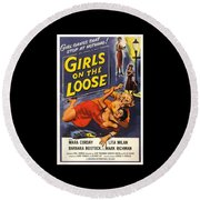 Girls On The Loose Round Beach Towel