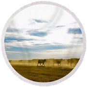 Git Along Round Beach Towel