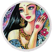 Gita Round Beach Towel