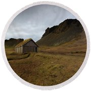 Round Beach Towel featuring the photograph Give Me Shelter by Allen Biedrzycki