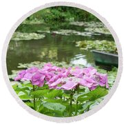 Giverny 4 Round Beach Towel