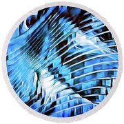 Glacial Blue Round Beach Towel