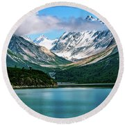 Glacial Valley Round Beach Towel