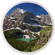 Glacier Backcountry 2 Round Beach Towel