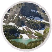 Glacier Backcountry Round Beach Towel